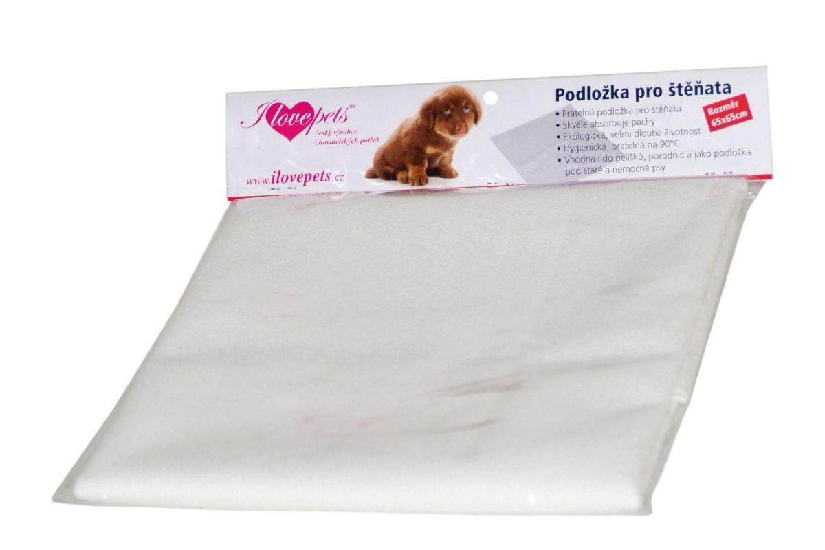 Podložka pro štěňata 65 x 65 cm I love pets