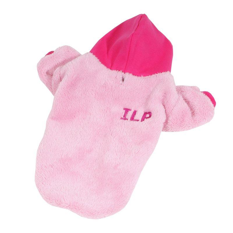 Bunda chlupatice - růžová (doprodej skladových zásob) XXL I love pets