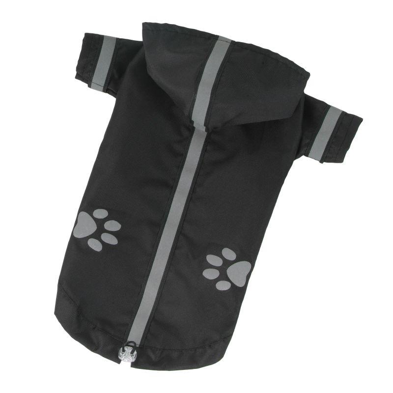 Bunda lehká šusťáková reflex - černá XL I love pets