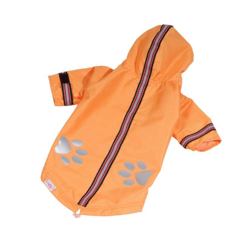 Bunda lehká šusťáková reflex - oranžová (doprodej skladových zásob) XL I love pets