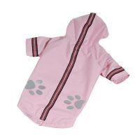Bunda lehká šusťáková reflex - světle růžová (doprodej skladových zásob) XS I love pets