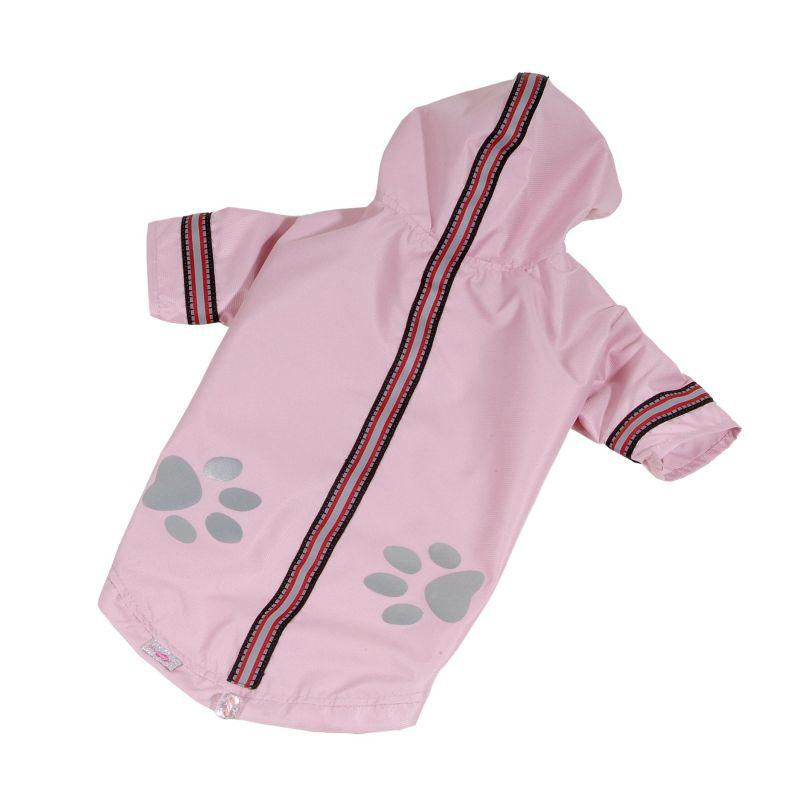 Bunda lehká šusťáková reflex - světle růžová (doprodej skladových zásob) XXL I love pets