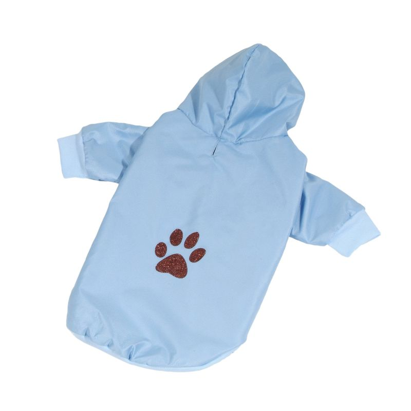 Bunda podšitá bavlnou - modrá XS (doprodej skladových zásob) I love pets