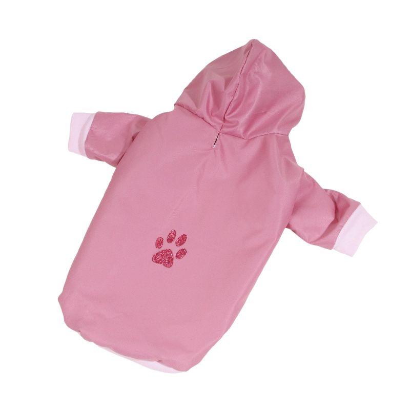 Bunda podšitá bavlnou - starorůžová XXS (doprodej skladových zásob) I love pets