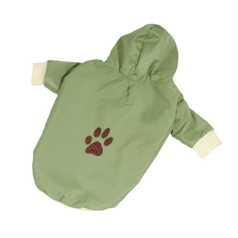 Bunda podšitá bavlnou - zelená XS (doprodej skladových zásob) I love pets