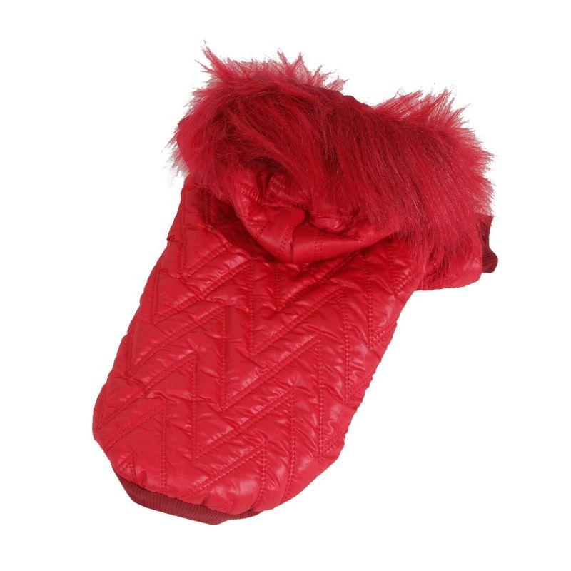 Bunda prošívaná (doprodej skladových zásob) - červená XS I love pets