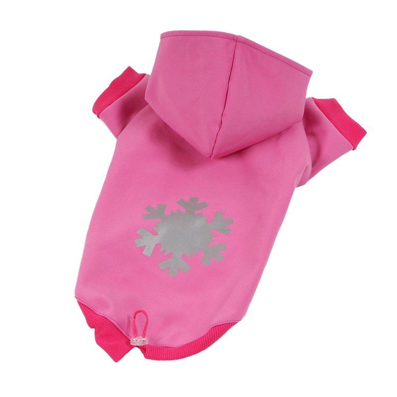Bunda Softshell - růžová L I love pets