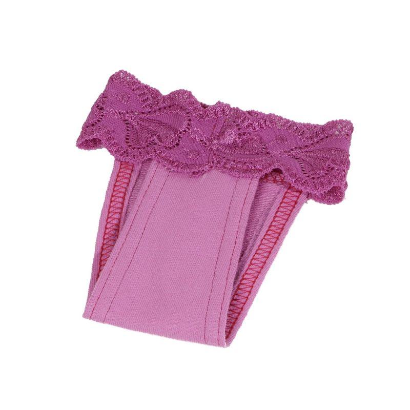 Hárací kalhotky s krajkou (doprodej skladových zásob) - fialová XXL I love pets