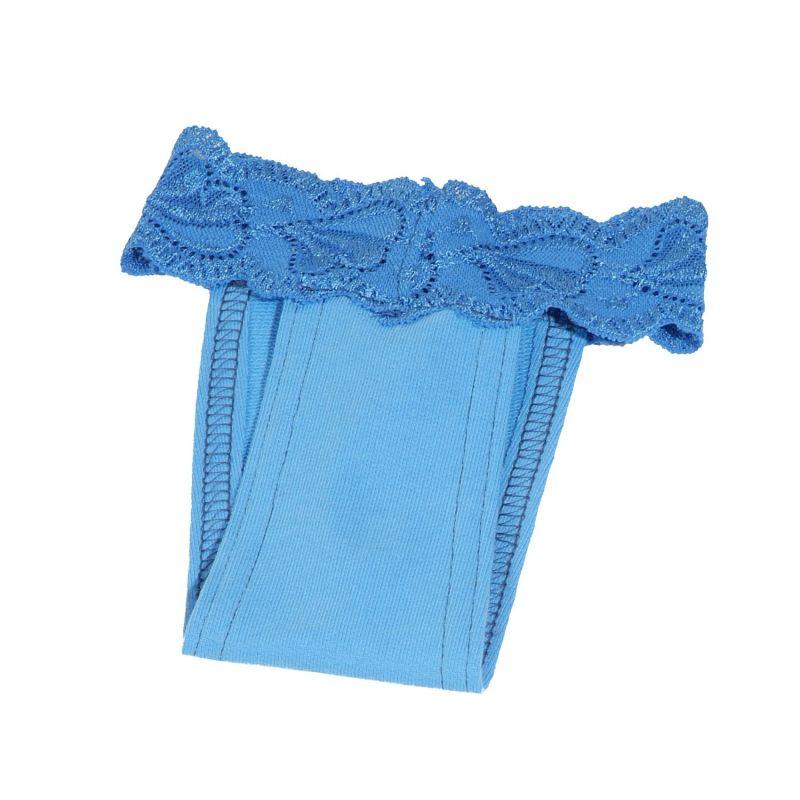 Hárací kalhotky s krajkou (doprodej skladových zásob) - modrá XS I love pets