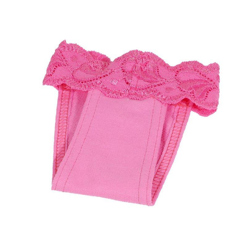 Hárací kalhotky s krajkou (doprodej skladových zásob) - růžová XXS I love pets
