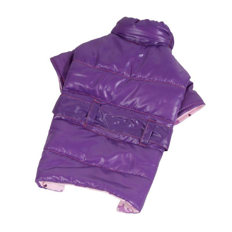 Kabátek De Luxe - fialová (doprodej skladových zásob) XL I love pets