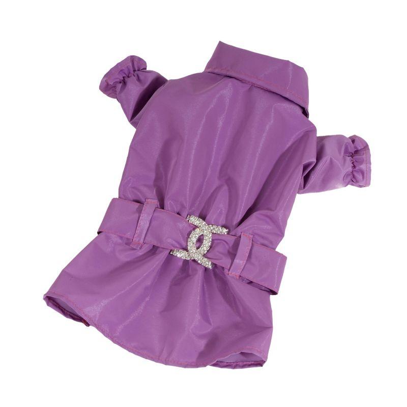 Kabátek nepromokavý - fialová (doprodej skladových zásob) XXS I love pets