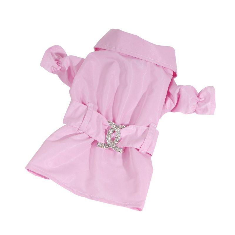 Kabátek nepromokavý - růžová (doprodej skladových zásob) XXS I love pets