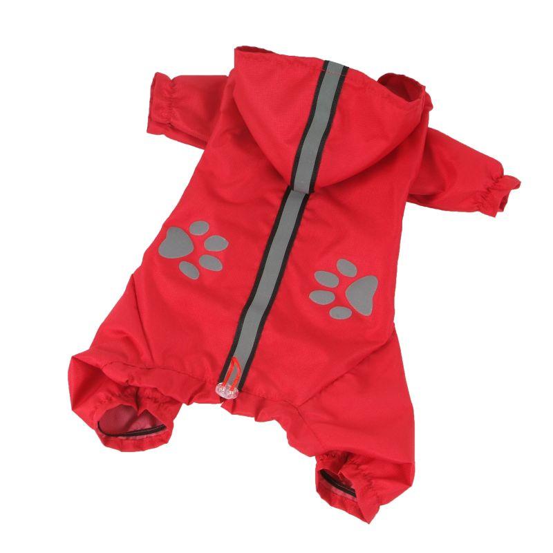 Kombinéza lehká šusťáková reflex - červená (doprodej skladových zásob) XS I love pets