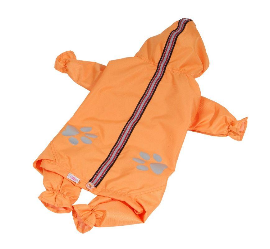 Kombinéza lehká šusťáková reflex - oranžová (doprodej skladových zásob) XXS I love pets