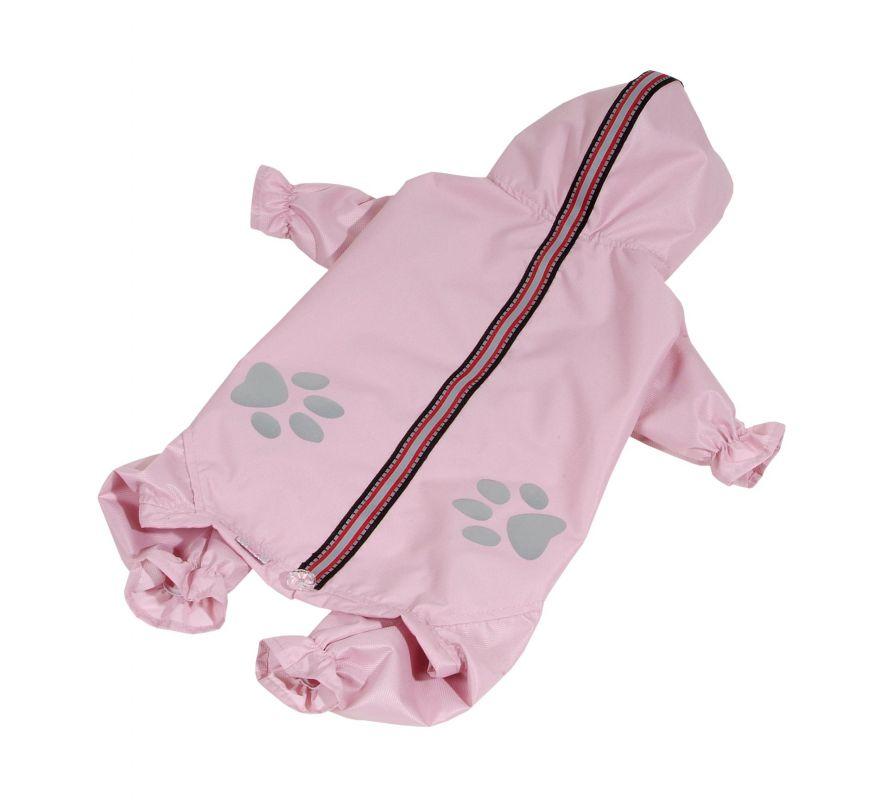 Kombinéza lehká šusťáková reflex - světle růžová (doprodej skladových zásob) L I love pets