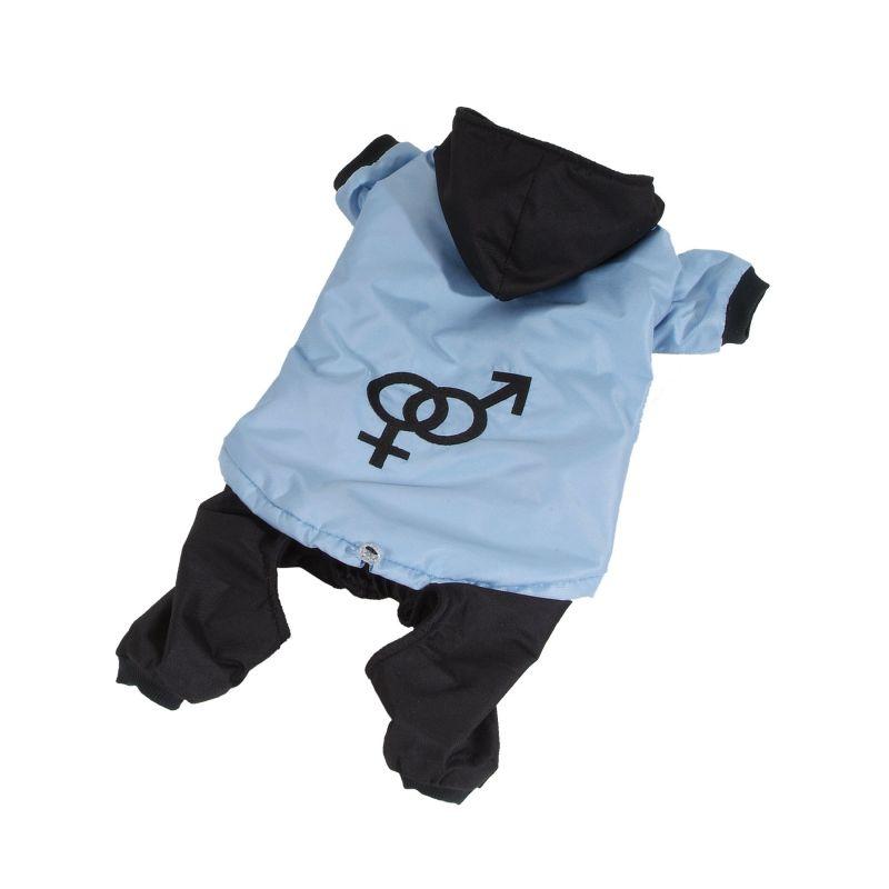 Kombinéza odepínatelné nohavice - modrá L I love pets