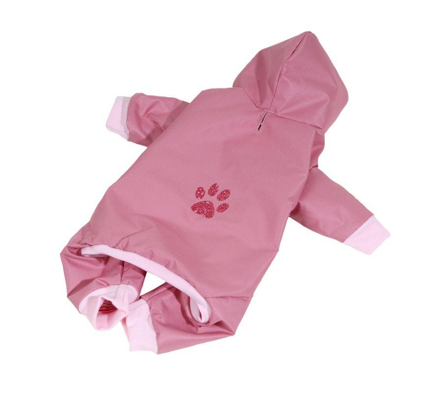 Kombinéza podšitá bavlnou - starorůžová XS (doprodej skladových zásob) I love pets