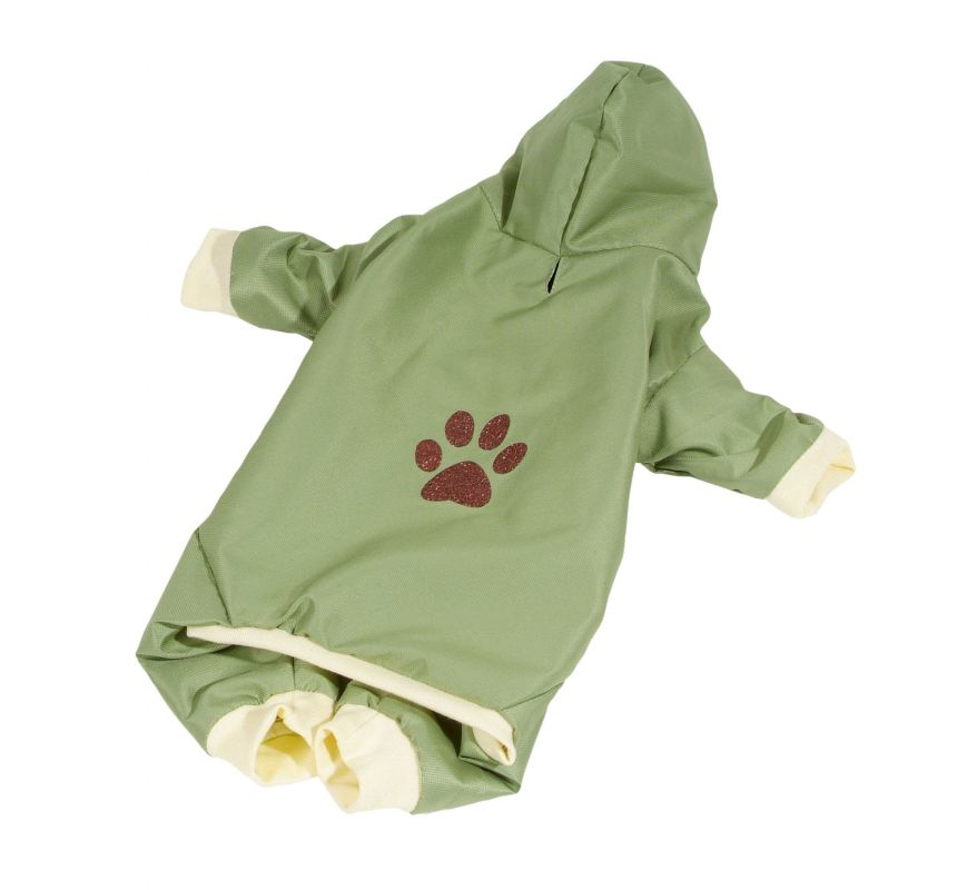 Kombinéza podšitá bavlnou - zelená M (doprodej skladových zásob) I love pets