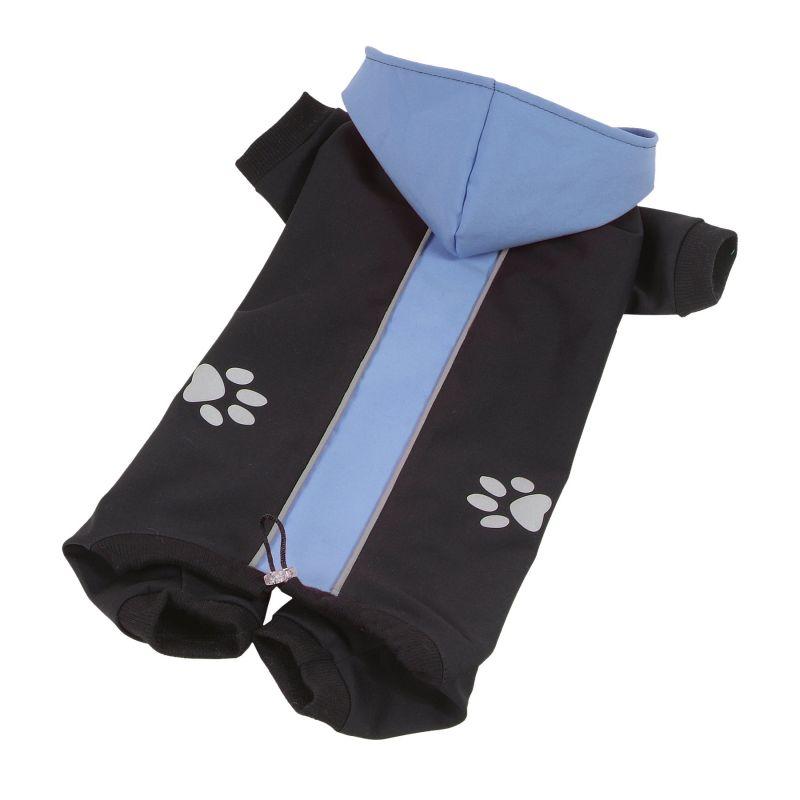 Kombinéza Softshell dvoubarevná - modrá/černá XXL I love pets