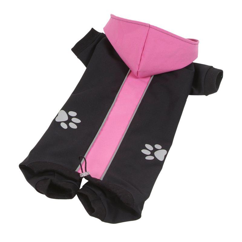 Kombinéza Softshell dvoubarevná - růžová/černá XXL I love pets