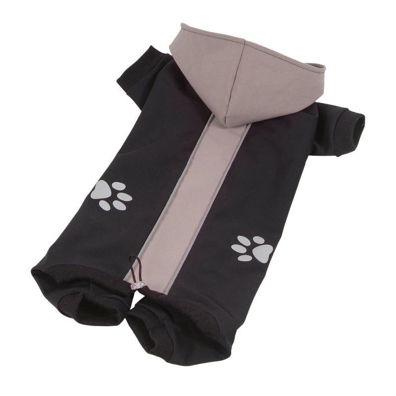 Kombinéza Softshell dvoubarevná - šedá/černá XXS I love pets