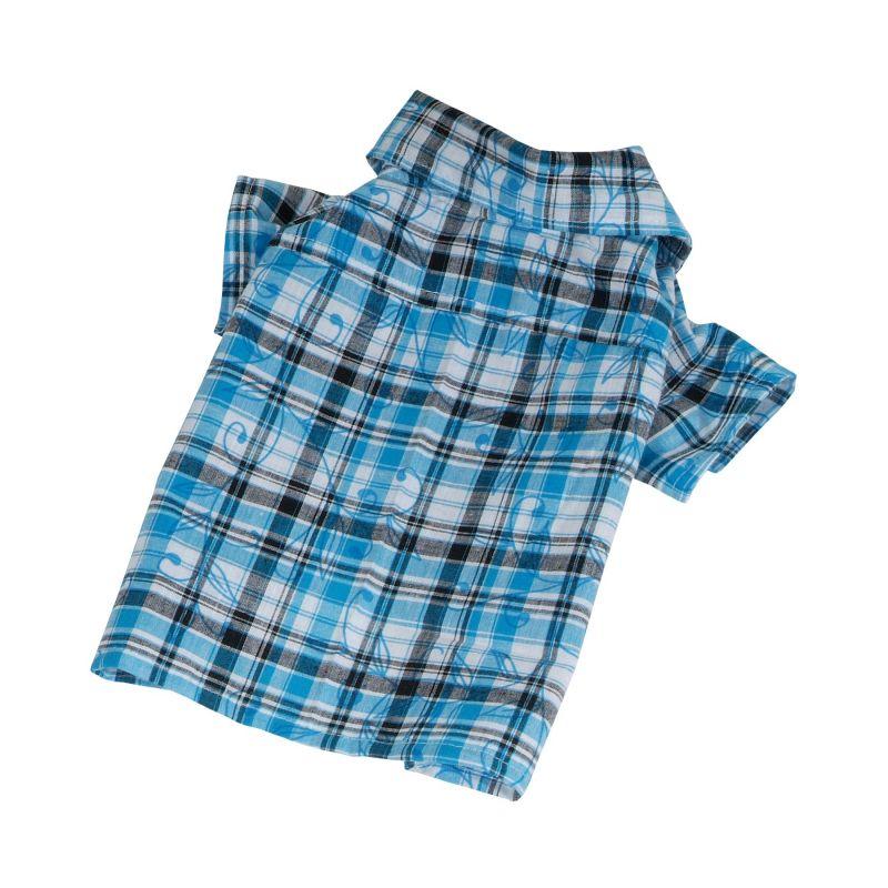Košile se vzorem - modrá (doprodej skladových zásob) XXL I love pets
