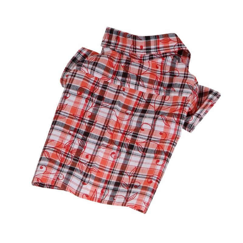 Košile se vzorem - oranžová (doprodej skladových zásob) M I love pets