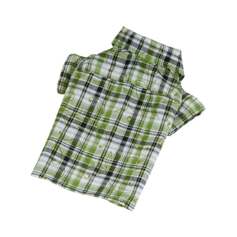 Košile se vzorem - zelená (doprodej skladových zásob) XL I love pets