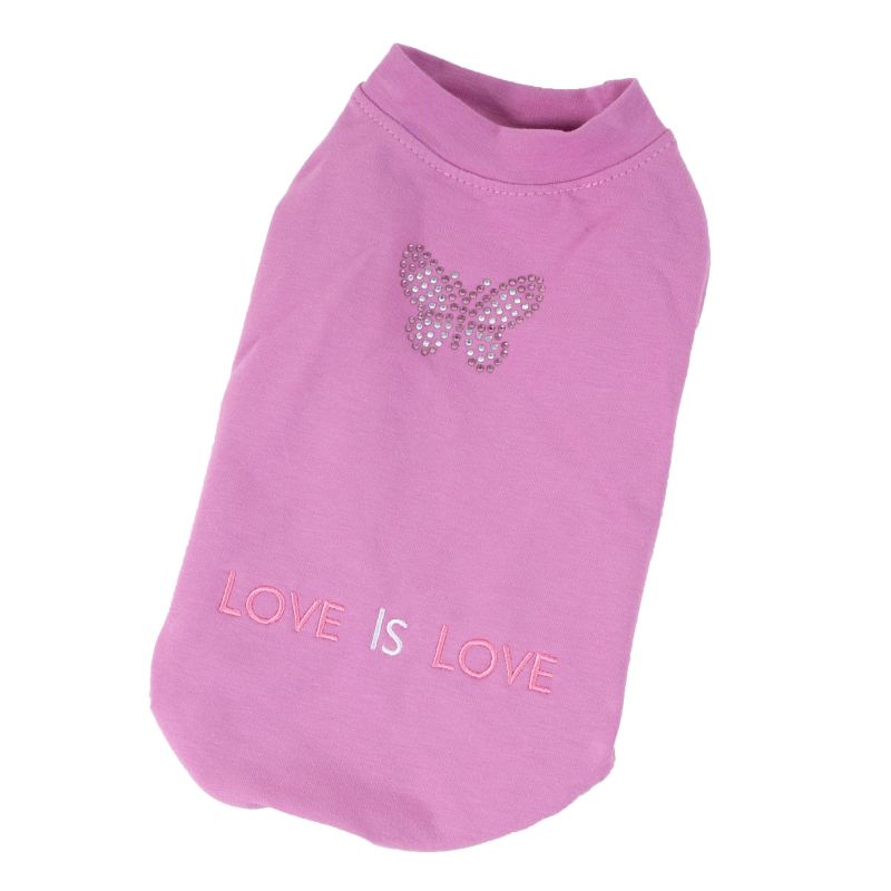 Mikina bavlněná motýli (doprodej skladových zásob) - fialová XXS I love pets
