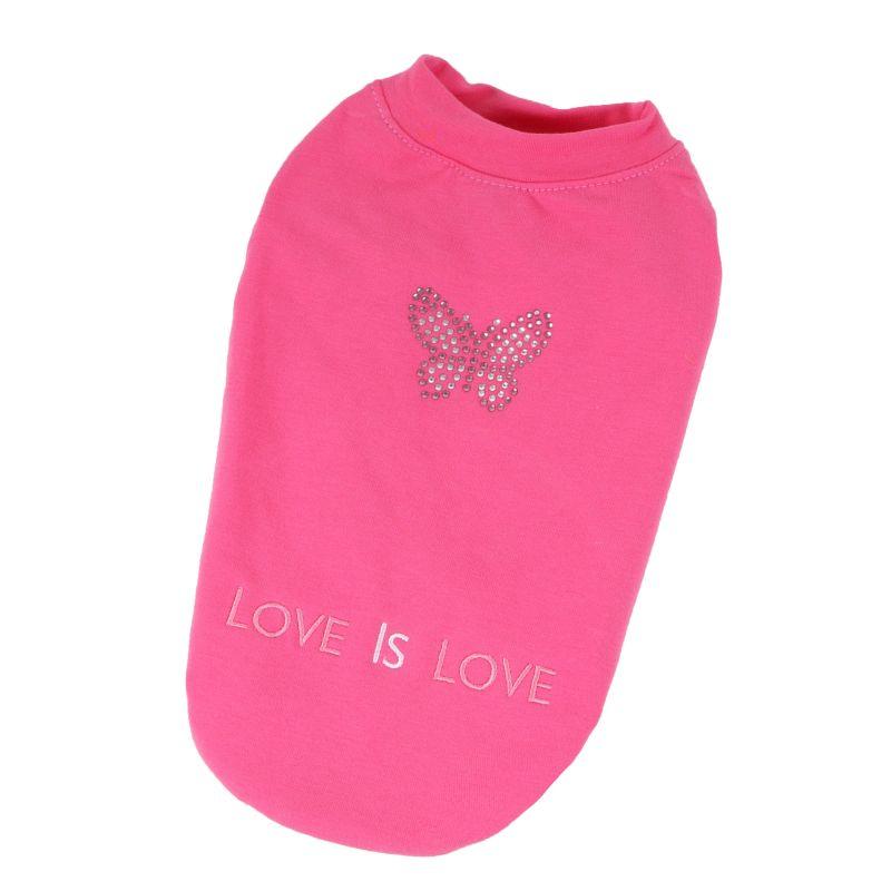 Mikina bavlněná motýli (doprodej skladových zásob) - růžová XL I love pets