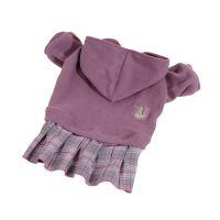 Mikina fleece se sukní - fialová (doprodej skladových zásob) XXS
