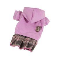 Mikina fleece se sukní - růžová (doprodej skladových zásob) XXS
