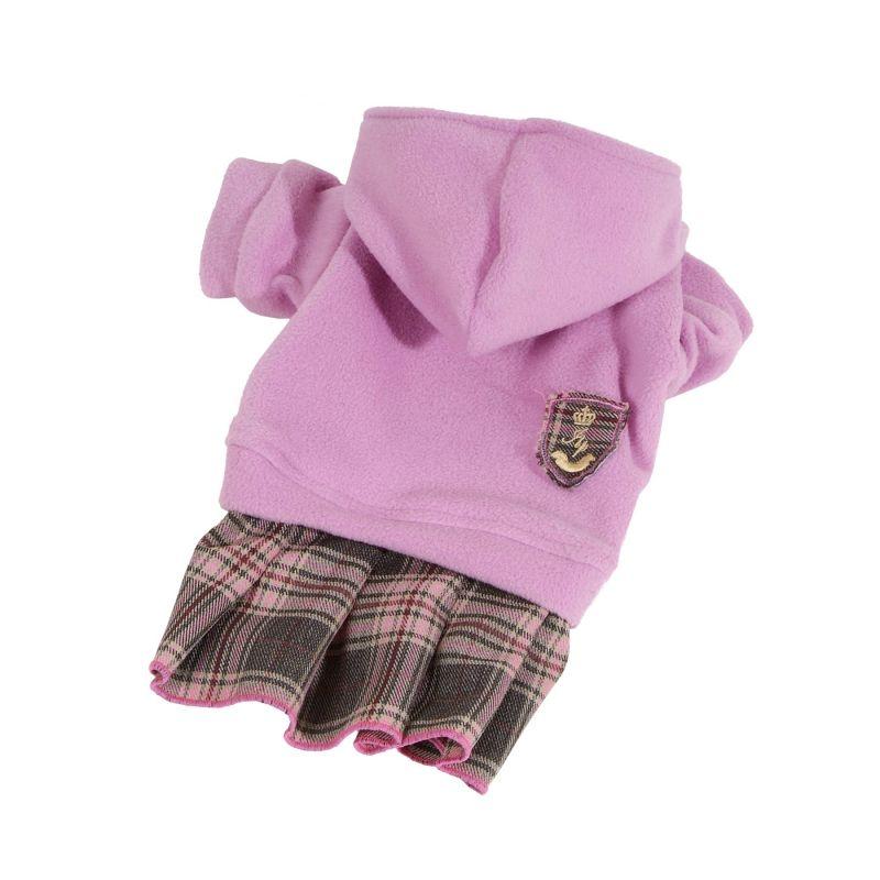 Mikina fleece se sukní - růžová (doprodej skladových zásob) XXS I love pets