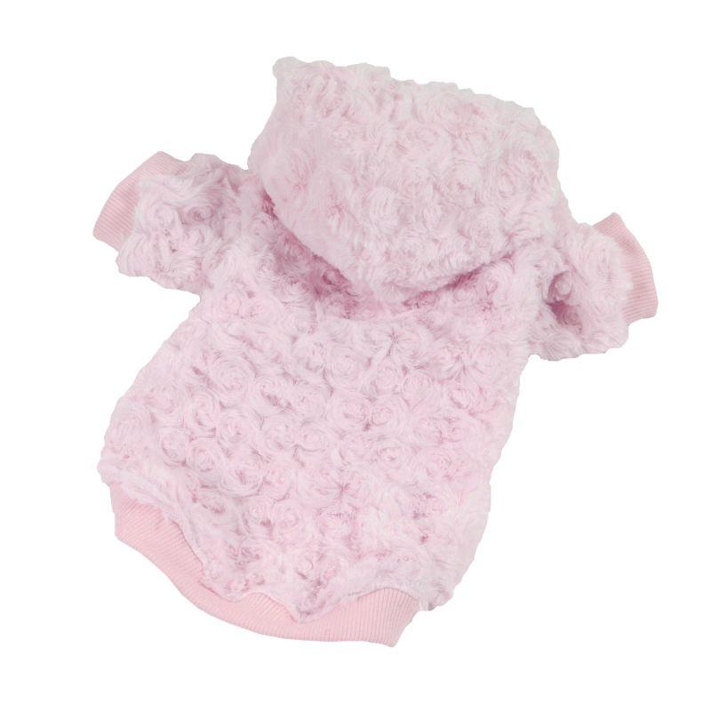 Mikina Fuzzy - růžová (doprodej skladových zásob) XXL I love pets