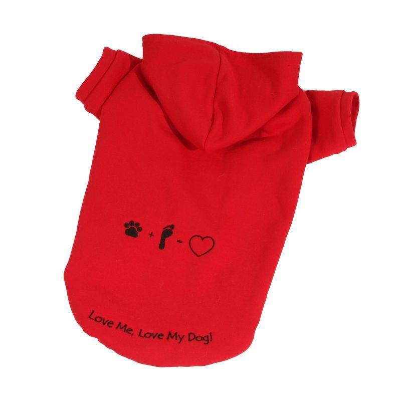 Mikina Love (doprodej skladových zásob) - červená XXS I love pets