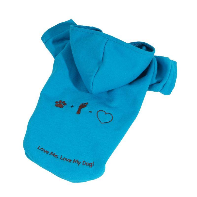 Mikina Love (doprodej skladových zásob) - modrá XS I love pets