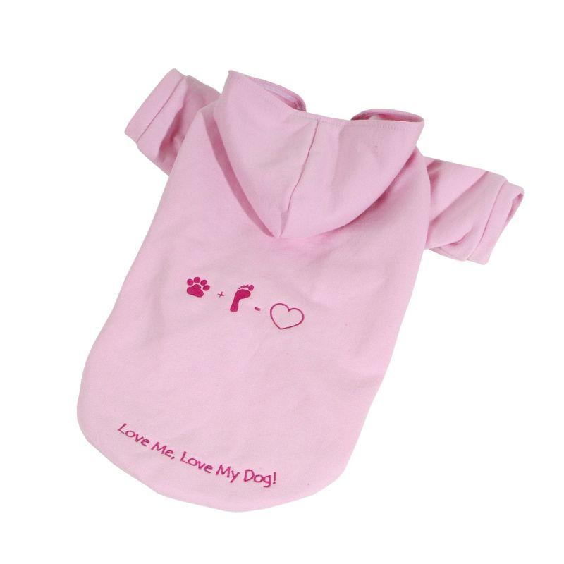 Mikina Love (doprodej skladových zásob) - růžová XXL I love pets