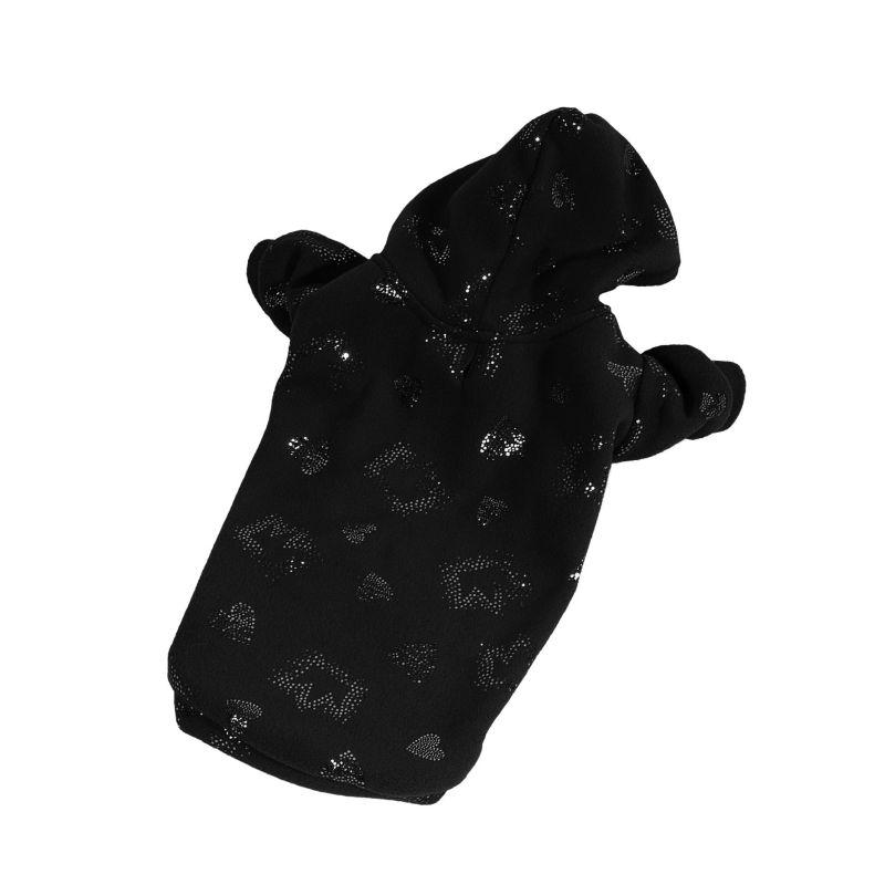 Mikina Sparkle - černá (doprodej skladových zásob) XXS I love pets