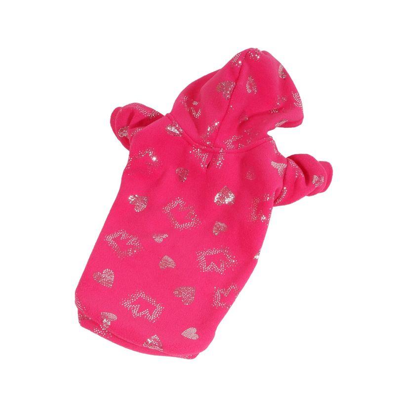 Mikina Sparkle - růžová (doprodej skladových zásob) XS I love pets