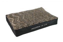 Ortopedická matrace De Luxe 120 x 85 cm leopard I love pets