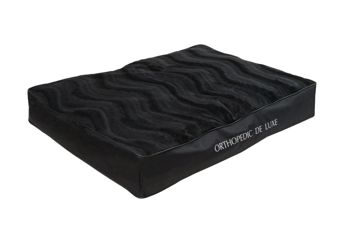 Ortopedická matrace De Luxe 130 x 100 cm černá I love pets