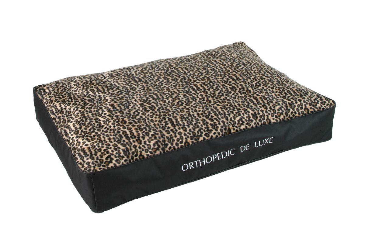 Ortopedická matrace De Luxe 130 x 100 cm leopard I love pets