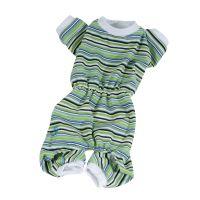 Pyžamo pruhované - zelená (doprodej skladových zásob) XS