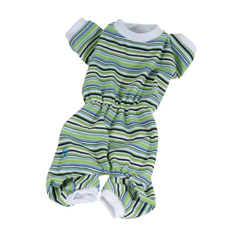 Pyžamo pruhované - zelená (doprodej skladových zásob) XS I love pets