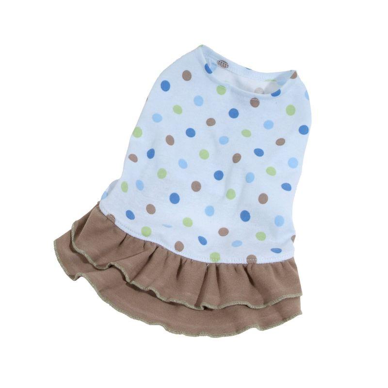 Šaty Dotty - modrá/hnědá (doprodej skladových zásob) XS I love pets