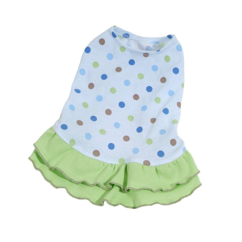Šaty Dotty - modrá/zelená (doprodej skladových zásob) XL I love pets