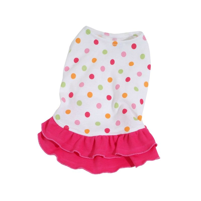 Šaty Dotty - tmavě růžová (doprodej skladových zásob) XXS I love pets