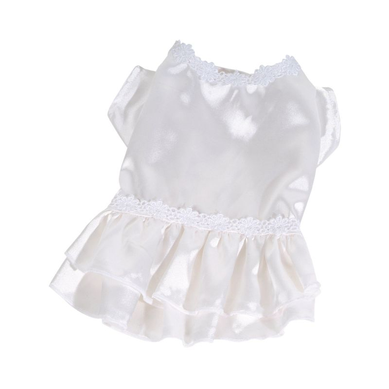 Šaty Flower (doprodej skladových zásob) - bílá XXS I love pets
