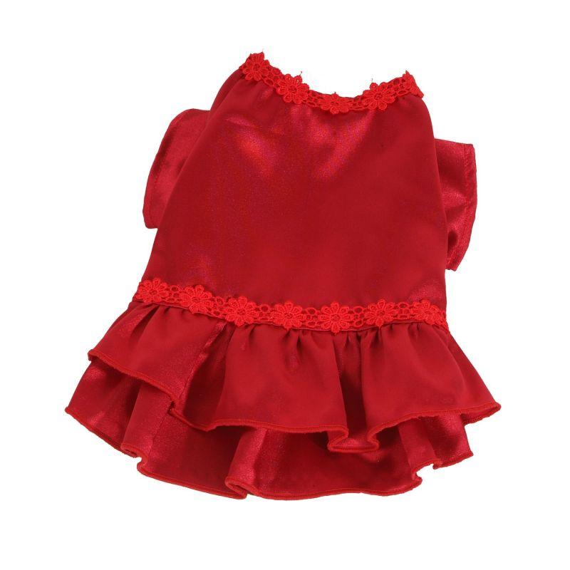 Šaty Flower (doprodej skladových zásob) - červená XXS I love pets